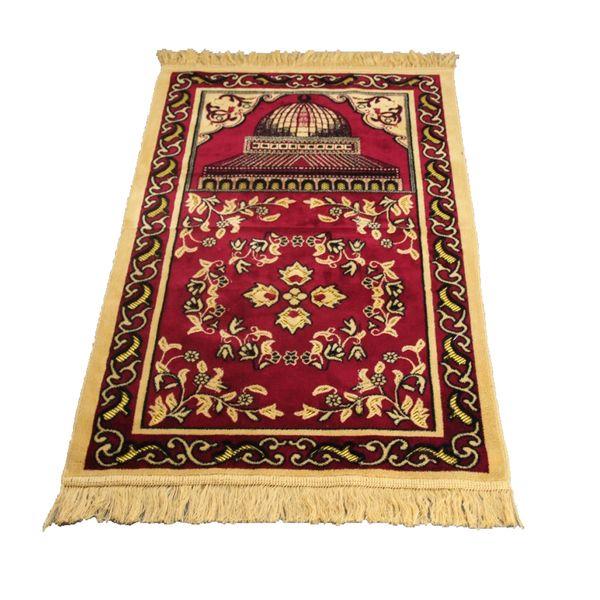Kneeling Home Muslim Artificial Cashmere Floral Anti Slip Decoration Practical Folding Exquisite Lightweight Bedroom Prayer Mat