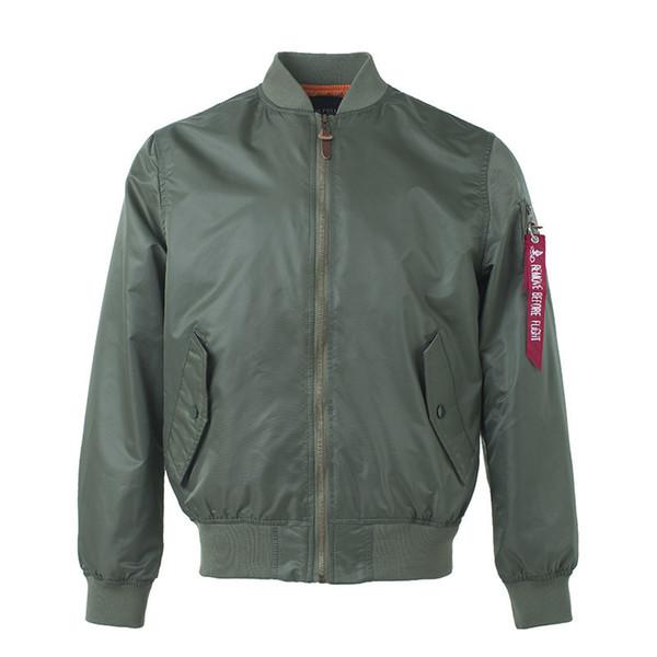 Varsity Hip Hop Streetwear Military For Men Coat Varsity Jacket Bomber American College Harrington Plain Black Cheap Water Proof