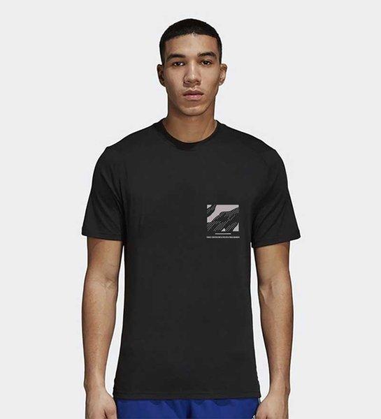 Hommes T-shirt Casual Mode Pure Color doux à séchage rapide Respirant 2019 nouvel été col rond T-shirts Coton Mélange Taille M-5XL