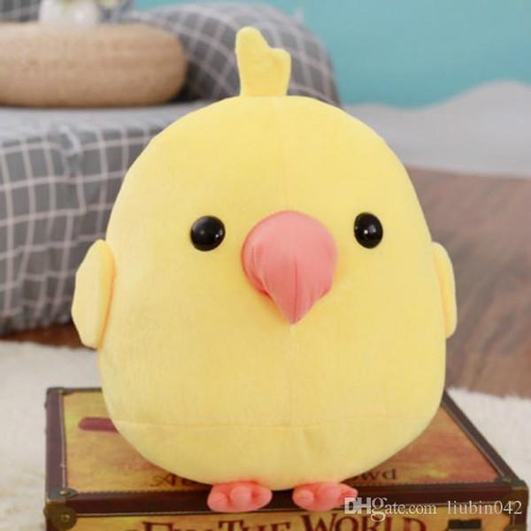 20170609 Pássaro Dos Desenhos Animados Estatueta Criativa Parro tStuffed Animais E Brinquedos de Pelúcia Para As Crianças Presente Frete Grátis