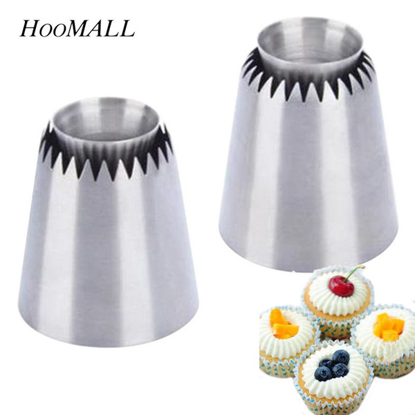 akeware Cake Hoomall Tips DIY Cakes Decorating Tools Kitchen Stainless Steel Nozzles Cupcake Large Icing Piping Nozzle Baking & Pastry T...