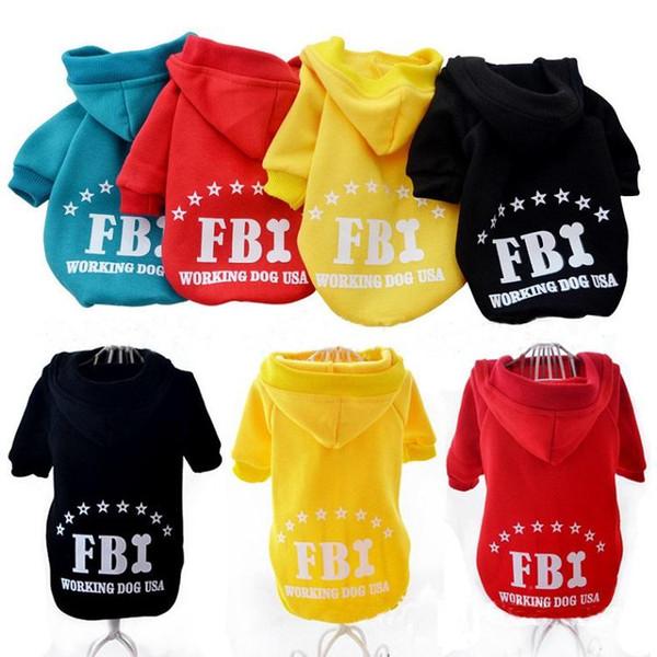 FBI pet Dog Apparel Dog Vest Pet sweater Winter Hoodie Coat Jacket USA FBI working dog Clothes