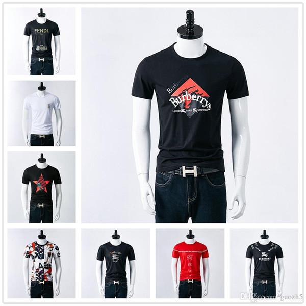 Designer de Marca Mens T camisas de Luxo Tshirt Moda Clássico Grande Carta de Impressão T-Shirt Roupas de Algodão Ocasional Tee Tops 2019 primavera verão