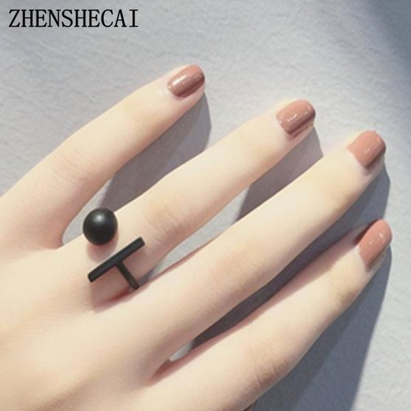 New hot sale Fashion Alloy Crystal Rings gold sliver black Infinity Ring for women simple Statement jewelry Wholesale nj48