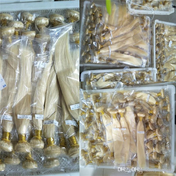 Реми человеческие волосы 3 пучка 613 светлый цвет прямые волосы утки 100 г шт., Принять прямую поставку