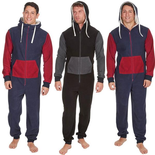 Sporting Jumpsuit men women long sexy Playsuit long sleeve One-piece garment Non Footed Pajama set Hoodie Warm Fur Sweatshirt D
