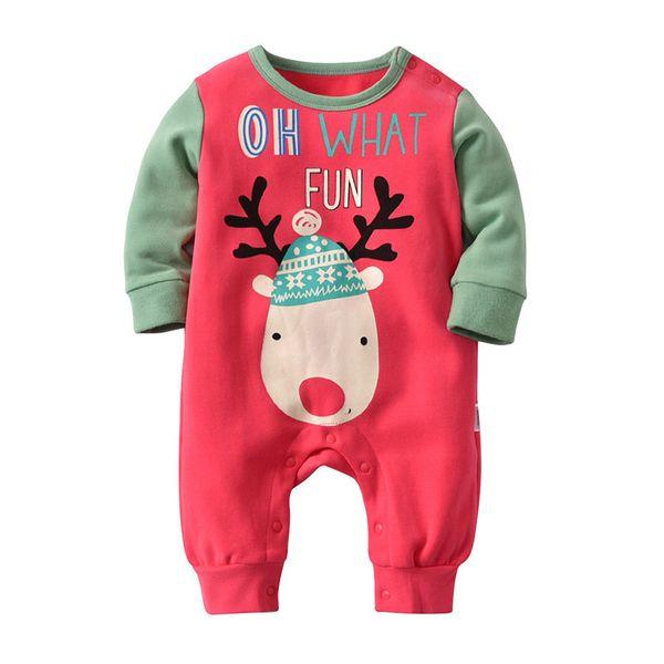 Red Baby Romper Cotton Winer En general Algodón Ropa de bebé de Halloween Mono recién nacido para niños y niñas