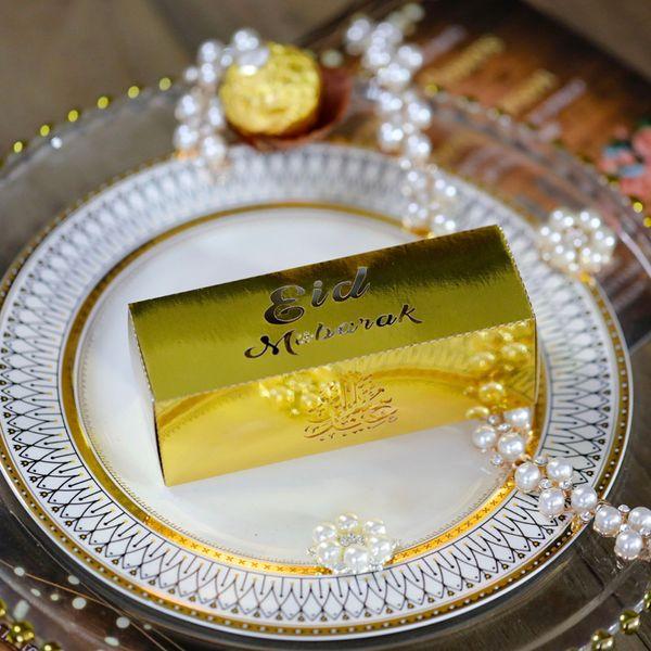 Gold Eid Rechteck 12X4X4CM 20pcs