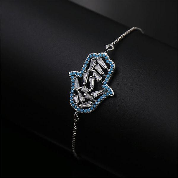 Newest Fashions Design Chains Hamsa Hand Bracelets Hot Luxury Designer Women Chain Bracelets Luck Ladies Wedding Bracelets Party Gift