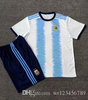 2019-20 Argentina suit soccer Jersey MESSI DYBALA DI MARIA KUN AGUERO HIGUAIN ICARDI home away 19 20 American Cup Football