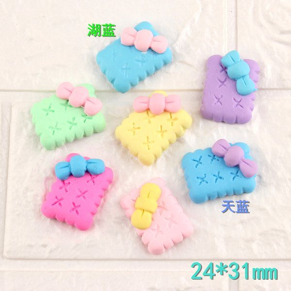 Mix 100pcs 24*31mm DIY Soft ceramics polymer clay Macaron biscuits cookie charms cabochon jewelry making ornament decorative material