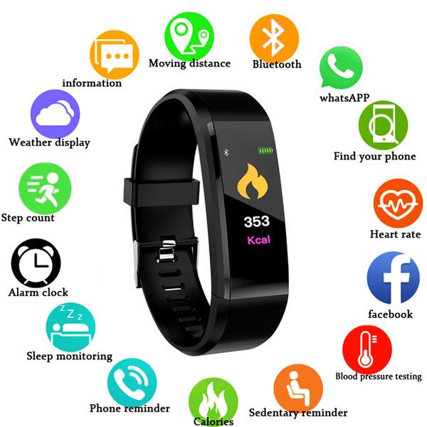Sport Smart Watch Men Smart Bracelet Blood Pressure Measurement Fitness Tracker Watch Waterproof Smartwatch Women Android