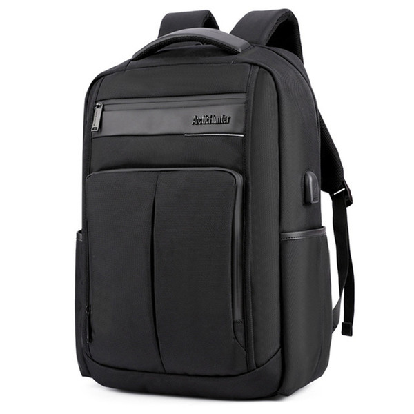 ARCTIC HUNTER Business Men's Laptop Backpack USB Charging Waterproof Polyester Wearable Backpack