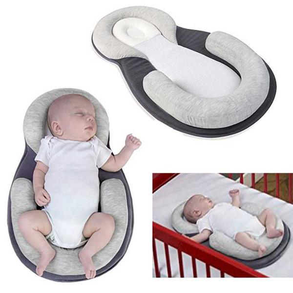 Baby Pillow Stereotypes Infant Newborn Mattress Pillow Baby Sleep Positioner Prevent Flat Head Shape Anti Roll Pillows Dropship