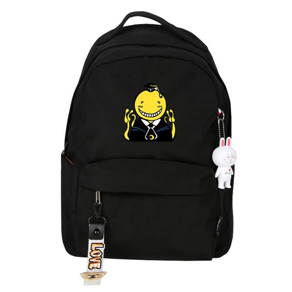 Assassination Classroom Japanese Anime Backpack Canvas Laptop Backpack Korosensei Back pack Girls School Bags Cartoon Rucksack