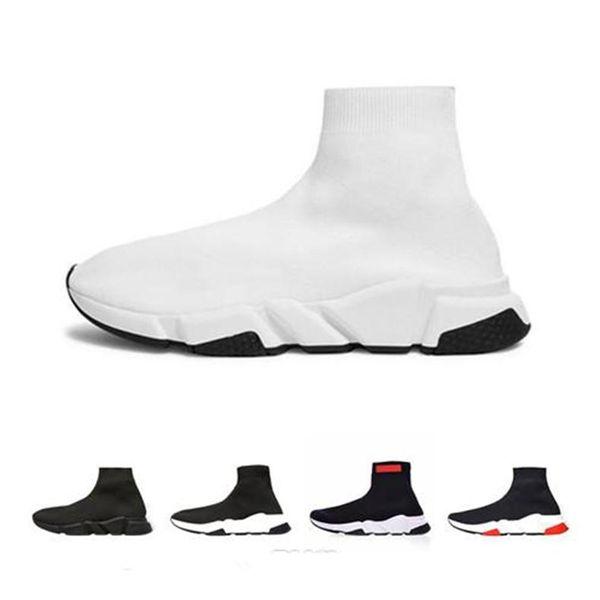 Hochwertige ACE Sockenschuhe Speed Designer Trainer Freizeitschuhe Race Runners Schwarz Weiß Mode Luxus Herren Damen Designer Sandalen Schuhe