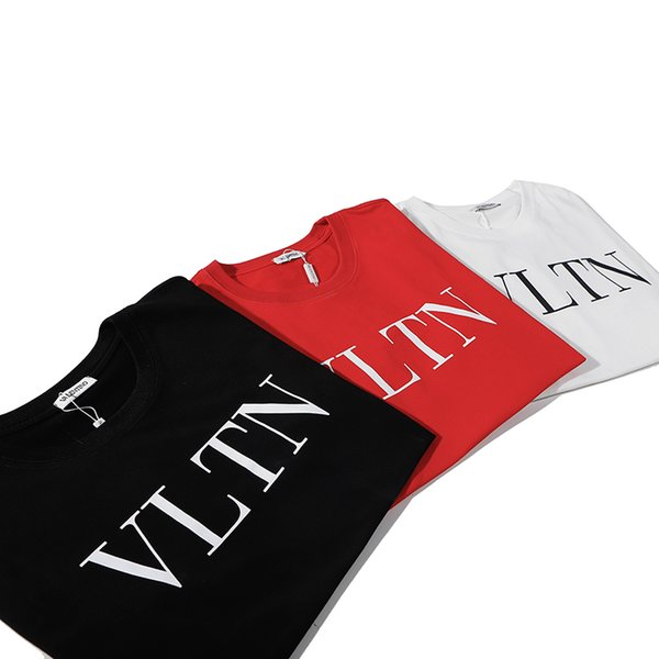 Mens Womens Brand Tshirt 2019 Hot Sale Summer Clothes Short Sleeve Letter Printed Top Tee for Couple 3color S-XXL