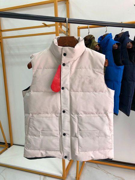 2019 Brand Mens Vests Winter neue kanadische Daunenjacke Männer und Frauen mit dem gleichen Absatz schlank dick groß groß Gans Weste warme Jacke
