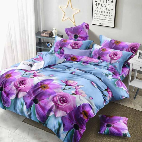 3d Red Rose Queen Bedding Set Flower, Red Queen Bed Set