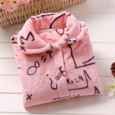 2019 nuovi pigiami donne bella coppia rosa manica lunga sveglia della ciliegia Large Size ispessite corallo del panno casa vestiti caldi coperta