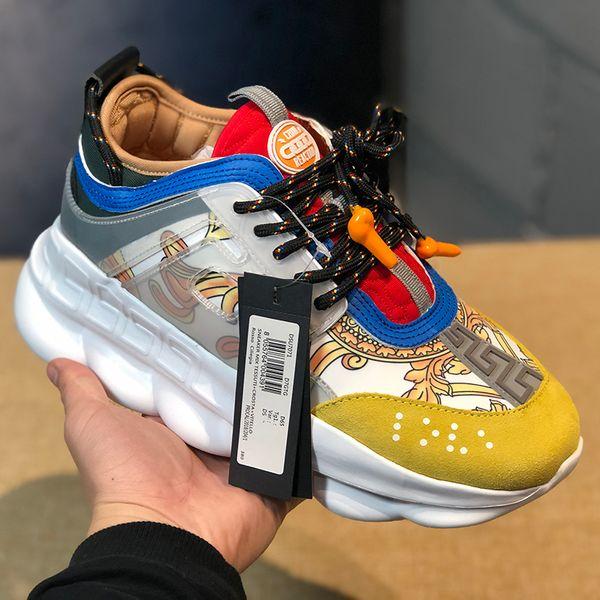 2019 Zincir Reaksiyon Lüks Tasarımcı Ayakkabı Erkekler Kadınlar Sneakers Koşucu Kar Leopar Siyah Beyaz Süet Deri moda kadın eğitmenler ayakkabı