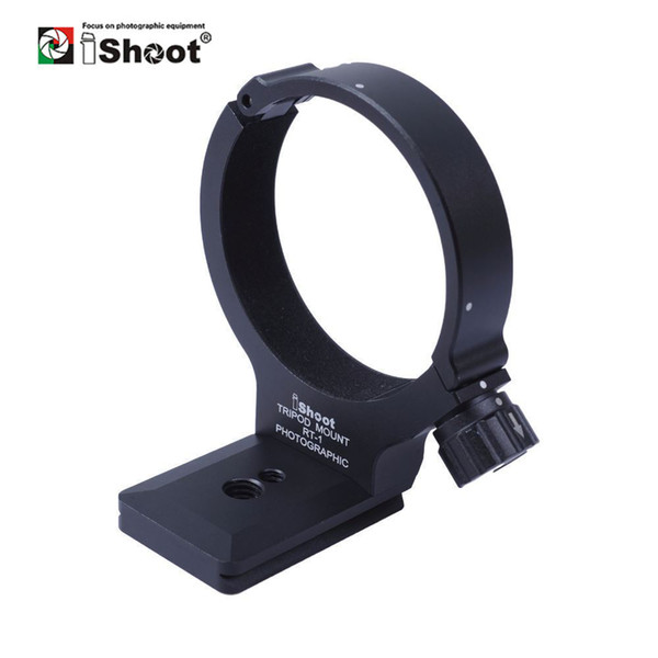 iShoot Lens Collar Foot Tripod Mount Ring Stand Base for Nikon 300 F/4E PF and Nikon 70-200 F/4G Replace Base Arca Compatible