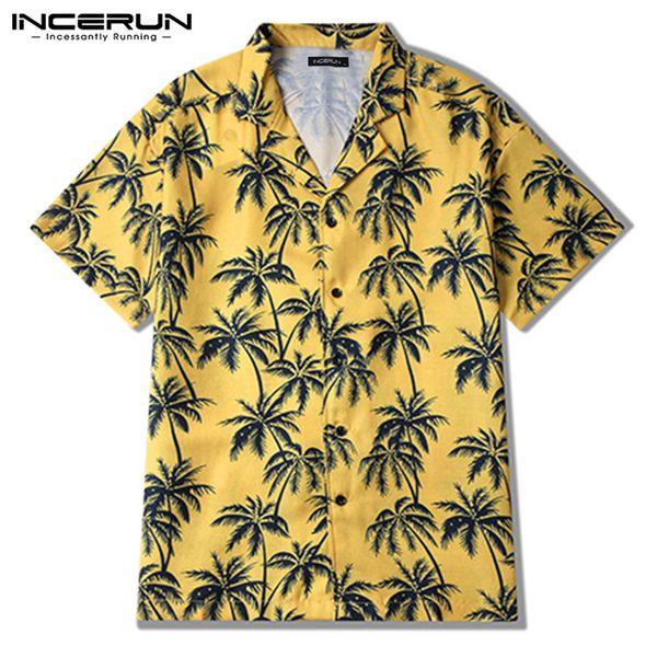 Harajuku Baggy Casual Gömlek Sosyal Erkekler Gömlek Elbise Gevşek Düğme Aşağı Tee Tops 2019 Hawaii Erkekler Giysi Chemise Hombre Camisa