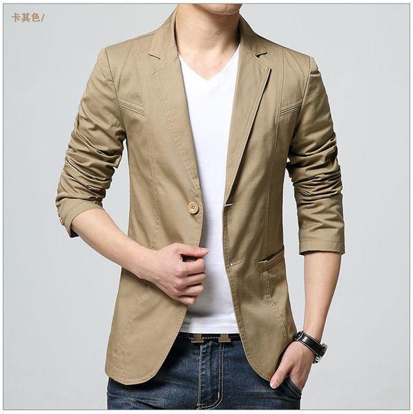 Giacca a manica lunga da uomo con scollo a risvolto, manica lunga, colore solido, cappotti Homme, moda monopetto, abbigliamento maschile