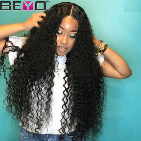 Derin Dalga Peruk 360 Tam Dantel İnsan Saç Peruk Siyah Kadınlar Için Ham Hint Derin Dalga Kıvırcık Bakire Saç Dantel Peruk Remy Beyo