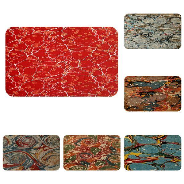 Marble Textures Cool Mat Bath Carpet Decorative Anti-Slip Mats Room Car Floor Bar Rugs Door Home Decor Gift