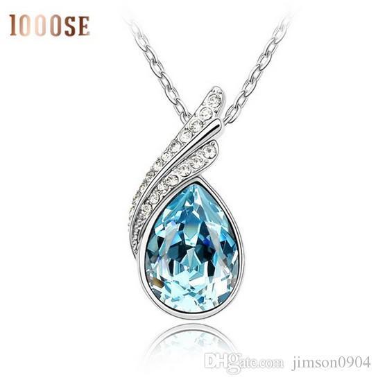 2017 nouvelle couleur de gros bijoux en utilisant SWAROVSKI Elements Collier pendentif en cristal flottant de haute qualité
