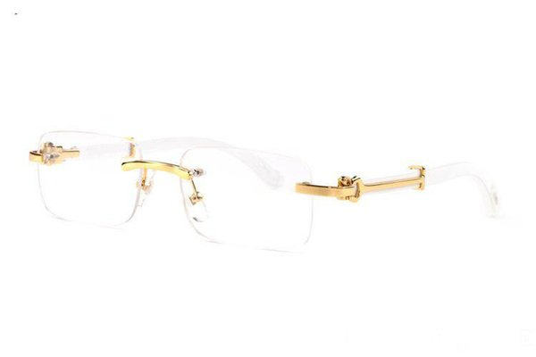 Free ship fashion men plastic Glass Sunglasses retro Frameless long heart design leg plastic glass sunglasses box