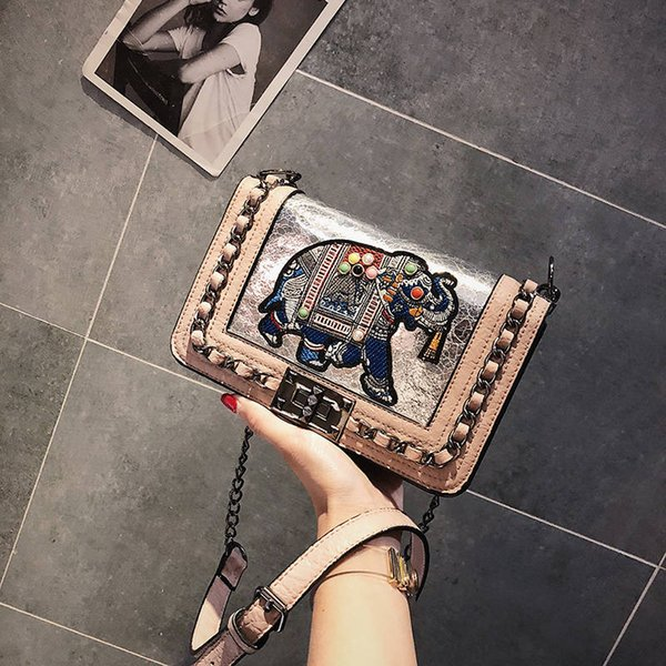 best selling Elephant summer small bag female 2019 new wave Korean version of the wild Messenger bag chain small square bag super fire package