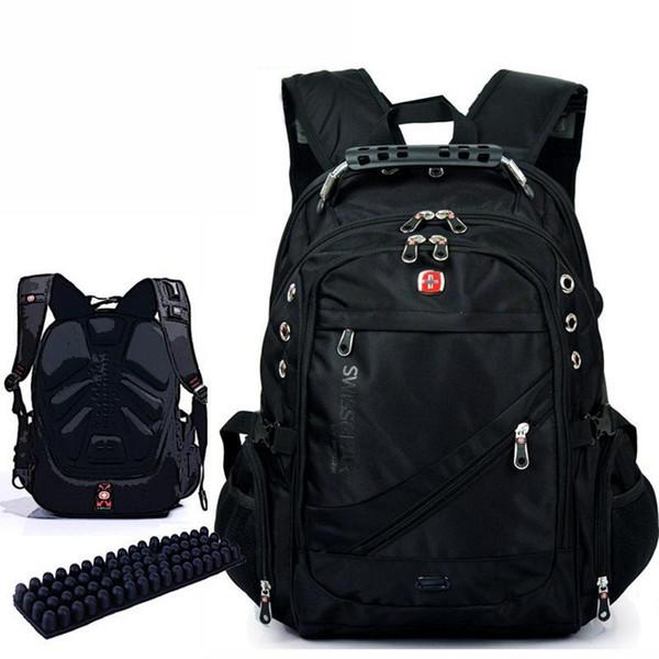 Wholesale-New Fashion Brand Design Männer Reisetasche 15,6 Zoll Mann Rucksack Polyester Taschen wasserdichte Umhängetaschen Computer Packsack