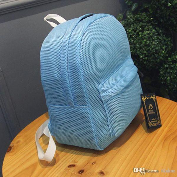 Wholesale- 2017 Fashion Women Korean Mesh Backpack Bookbag School Bag Teenage Children Style Transparent P345 Top Quality Free Shipping