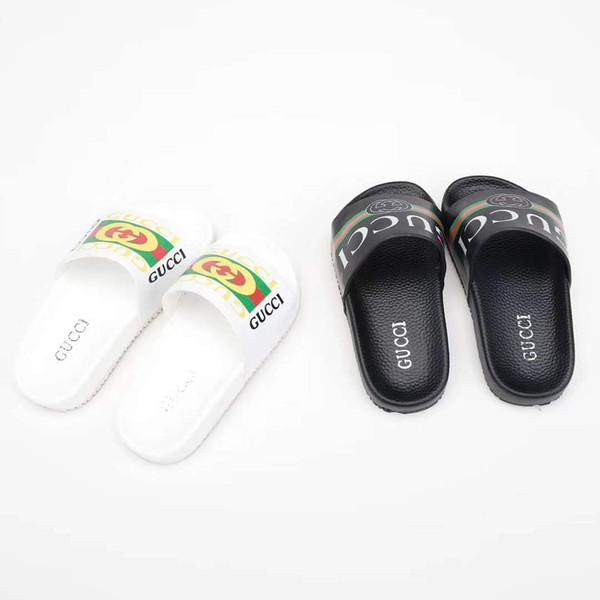 Junge Haus Pantoffel schwarz weiß gebrandmarkt Sommer Hausschuhe Sandalen Schuhe Eu 26-35 Gummisohle kostenloser Versand