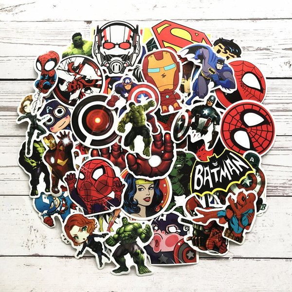 100pcs/set Marvel hero Graffiti Sticker Personality Luggage DIY stickers Cartoon PVC Wall Car Stickers Decoration Kids Gift Toys