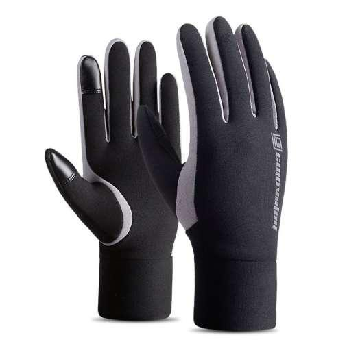 Touch Screen Winter Warm Fleece Lined Thermal Gloves Waterproof Wind Proof Outdoor Sports Gloves For Riding Skiing