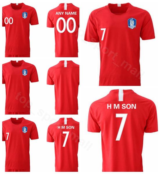 Corea del Sud Jersey 2019 2020 Uomini Calcio 7 H M SON 22 YHGO 2 YLEE 19 HMSON Home Red Football Shirt Kit Uniforme