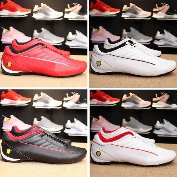 Ms New Future Scuderia Enzo Evo Cat Mens Автомобили Гоночные мотоциклов Boots обувь для мужчин Cats Racer Speed Red White тапки вскользь обуви Eur37-45