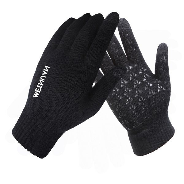 Unisex Anti-skid Capacity Touch Screen Knitted Gloves Thicken Warm Winter Driving Gloves Fashion Christmas Gift MMA2388
