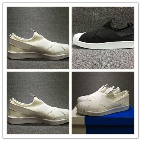 Großhandel 2019 Neu Kommen SUPERSTAR SLIP ON Komfortable Shell Toe Laufschuhe Für Hohe Qualität 95s Schwarz Weiß Herren Sneakers Sneakers Von