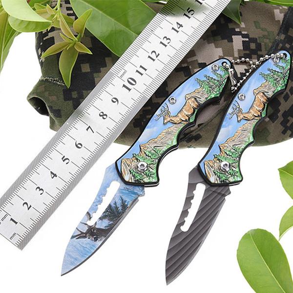 3D Outdoor Folding Knife Wild Survival Knife Home Travel Fruit Pocket Knife Hunting Cutter