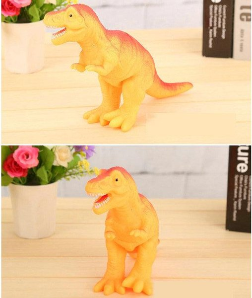 DHL 12pcs Shrilling dinosaur toys 30cm Screaming Rubber dinosaur Squeeze Stress Toy Funny Squeeze Sound Toy children kids Christmas gift