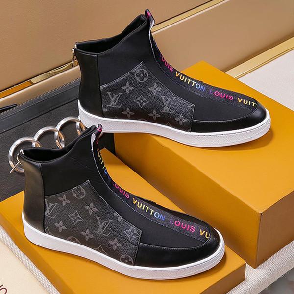 Mens Ankle Boots Autumn Winter Dress Shoes Zipper Motorcycle Boots Plus Size 38~45 Luxury Bottes Chaussures pour hommes Mens Fashion Shoes