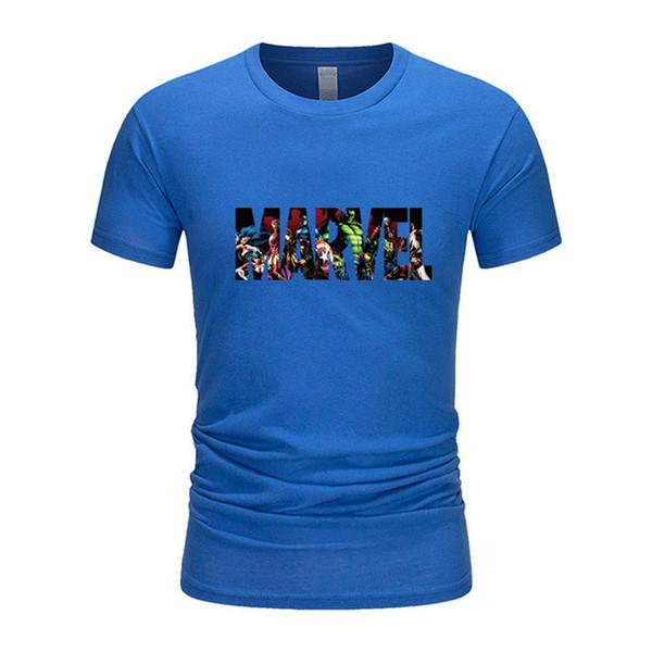MARVEL T-Shirt Neue Mode Männer Baumwolle Kurzen Ärmeln Beiläufige Männliche T-shirt Marvel T Shirts Männer Frauen Tops Tees Freund Geschenk QJ2