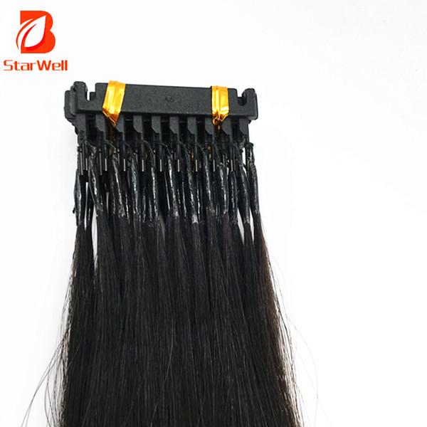 6D Haarverlängerungen 9A 20 Zoll können gefärbt und wiederverwendet werden