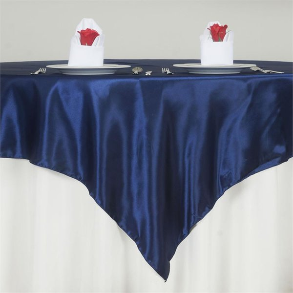 1pc square satin table overlay satin table cloth banquet cover for wedding holiday party event l decoration