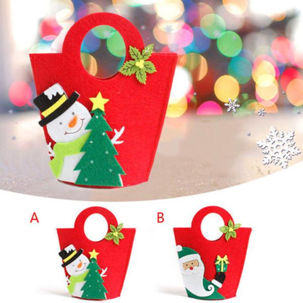 Moda Noel Hediyesi Çanta Şeker Çanta Merry Christmas Şeker Çanta Souvenir Çanta Noel Saklama Poşetleri