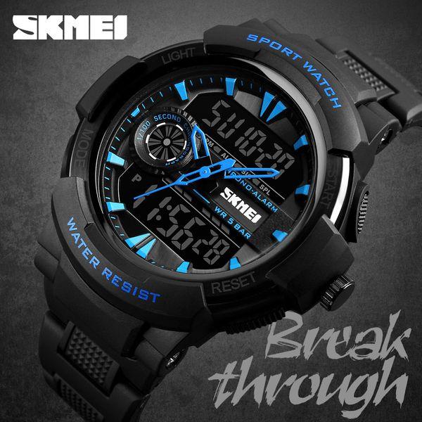 Hombres Skmei relojes deportivos digitales de nuevo la luz de pulsera impermeable de los hombres de cuarzo analógico reloj Relogio Masculino 1320